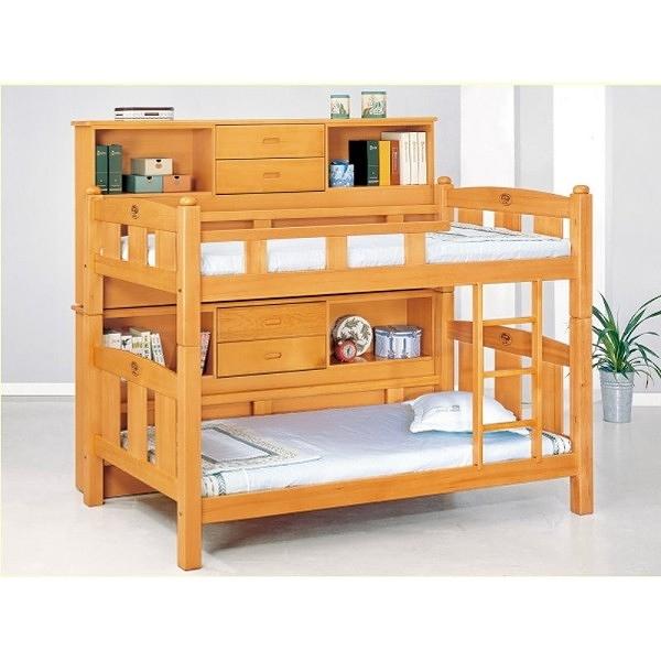 雙層床 MK-705-1 3.5尺檜木色雙層床組(全組) (不含床墊) 【大眾家居舘】