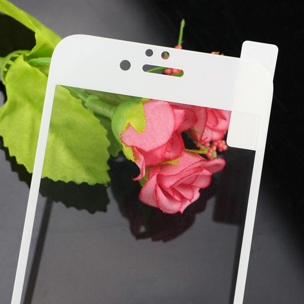 King*Shop~絲印全屏覆蓋 鋼化玻璃膜 美圖M6全覆蓋手機貼膜 高清防指紋彩膜