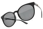 GUCCI太陽眼鏡 GG0488SA 001 (黑-灰藍鏡片) 質感微貓眼LOGO款 # 金橘眼鏡