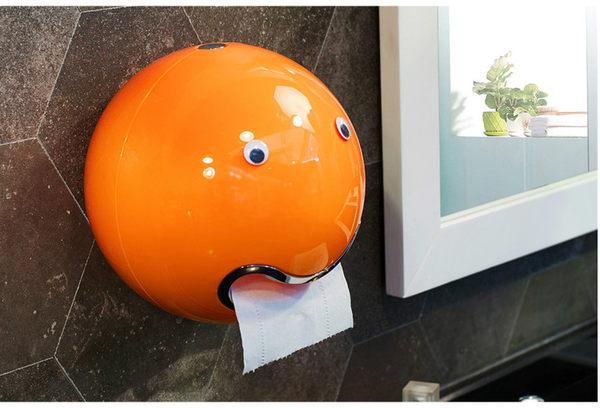 創意圓形球形防水抽紙盒衛生間洗手間家用捲紙器紙筒面巾盒紙巾架【時尚家居館】