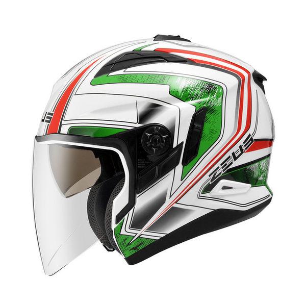 ZEUS瑞獅安全帽,ZS-613B,無帽沿版,AJ6/白綠