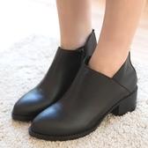 靴子.MIT顯瘦迷人側V口高跟短靴.白鳥麗子