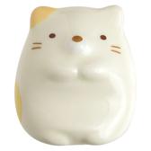 【震撼  】角落生物Sumikko Gurashi San X 角落生物型陶瓷筷架紙鎮貓咪米黃74108