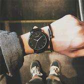 大表盤手錶男女學生韓版簡約時尚潮流復古男表   遇見生活