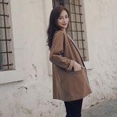 限定款西装2018春秋新款正韓條紋寬鬆復古小西裝外套女迷你港風薄款休閒西服