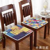 夏季加厚防滑家用布藝椅子墊辦公室坐墊四季薄款餐椅墊學生凳子墊 PA3565『小美日記』