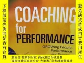 二手書博民逛書店英文原版罕見Coaching For PerformanceY2
