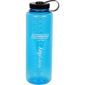【速捷戶外】美國製 NALGENE 682009-0570 寬嘴水壺 1500cc 灰藍色 (登山健行水瓶/兒童水壺)