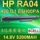 HP RA04 8芯 日系電芯 電池 RA04 E5H00PA H6L28AA 707618-121 768549-001 HSTTN-UB4L HSTTN-W01C HSTTN-IB4L HP ProBook 430 G1