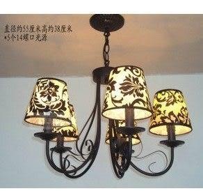 設計師美術精品館特賣歐式鐵藝地中海美式鄉村吊燈臥室飯廳客廳吊燈