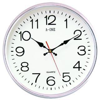 【佐登百貨】超靜音鍍銀掛鐘TG-0558