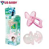 US BABY優生-矽晶安撫奶嘴拇指型- L (6個月以上)(粉)
