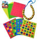 母親節EVA創意串珠MEIKE節日幼兒園手工材料包兒童DIY製作品玩具(隨機出貨)─預購CH5134