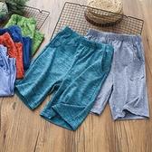 男童短褲 男童速干短褲吸濕排汗戶外彈力五分褲夏裝新款兒童中大童褲子薄款-Ballet朵朵