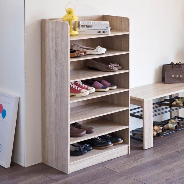 艾拉開放式七層鞋櫃