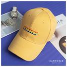Catworld 彩虹文字刺繡棒球帽【18003566】‧F