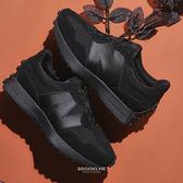 NEW BALANCE 休閒鞋 NB327 全黑 復古 拼接 男女 (布魯克林) MS327LX1