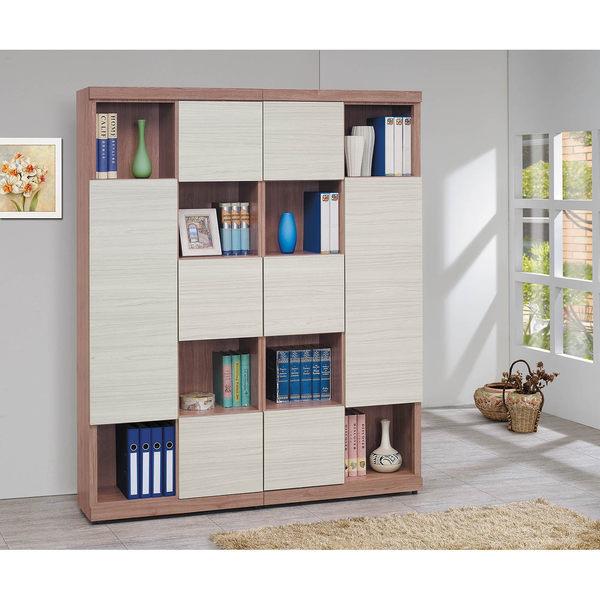 【森可家居】雪杉白雙色隔間書櫃組 8SB234-2 無印北歐風 書櫥 木紋質感 MIT台灣製造