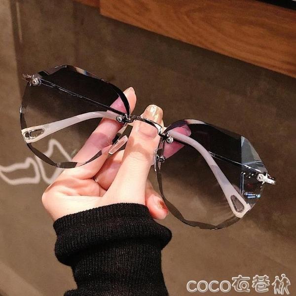 墨鏡女ins2020年新款圓臉韓版潮時尚太陽眼鏡防紫外線大臉顯瘦  COCO