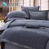 【貝兒居家寢飾生活館】100%萊賽爾天絲兩用被床包組(雙人/伯爵)