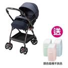 【Aprica】愛普力卡 Optia Cushion Premium-全方位舒穩手推車(藍調布魯斯)