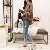 秋季小清新毛衣女套頭寬鬆慵懶風針織衫網紅很仙的韓版上衣 蘇菲小店