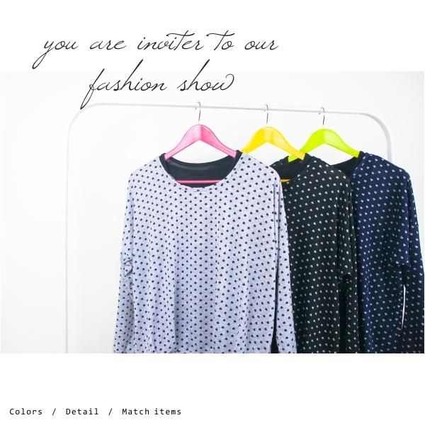 【INI】好感棉質、真兩件式愛心印花上衣.黑色