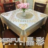 桌布 防水防油防燙免洗加厚PVC台布塑料大圓形餐桌布歐式覆膜圓桌桌布 晶彩生活
