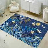 茶几地墊 網紅北歐風幾何客廳地毯/簡約茶幾沙發地墊/可愛臥室床邊地毯