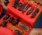 寶寶抓周用品抓鬮一周歲男女孩生日禮物古代中式古典玩具物品禮盒YYP  麥琪精品屋