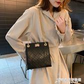斜挎包 高級感包包洋氣質感女包新款菱格包百搭時尚chic錬條斜挎斜挎包 時尚芭莎