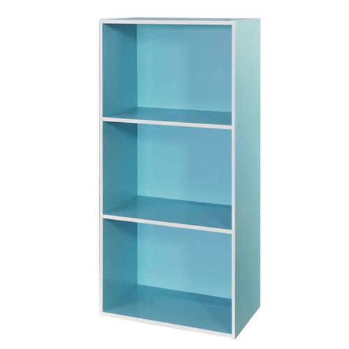 空櫃 收納【收納屋】粉彩三格櫃-二色可選&DIY組合傢俱
