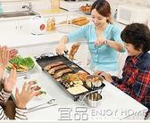 烤盤優貝加多功能家用電燒烤爐電烤盤韓式鐵板燒無煙不粘烤魚烤肉機鍋Igo 免運 宜品居家