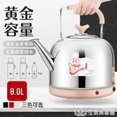 電水壺電熱水壺家用大容量燒水壺自動斷電304不銹鋼電壺一體茶壺 NMS生活樂事館