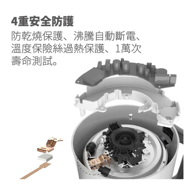 奇美1.5L五段式智能溫控不鏽鋼快煮壺 KT-15MDT0