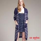 【夏季優惠】海軍風船錨條紋針織外套(丈青) - BLUE WAY ET BOîTE 箱子
