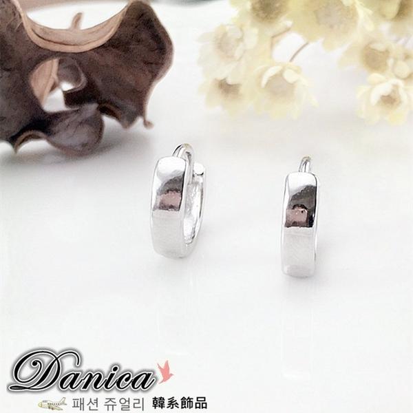 耳環 現貨 韓國萬年不敗百搭簡約到極致925銀針 易扣耳環 S91326 批發價 Danica 韓系飾品 韓國連線