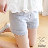 2條裝 純棉蕾絲可外穿安全褲女防走光內穿短褲大碼打底褲薄款【貼身日記】