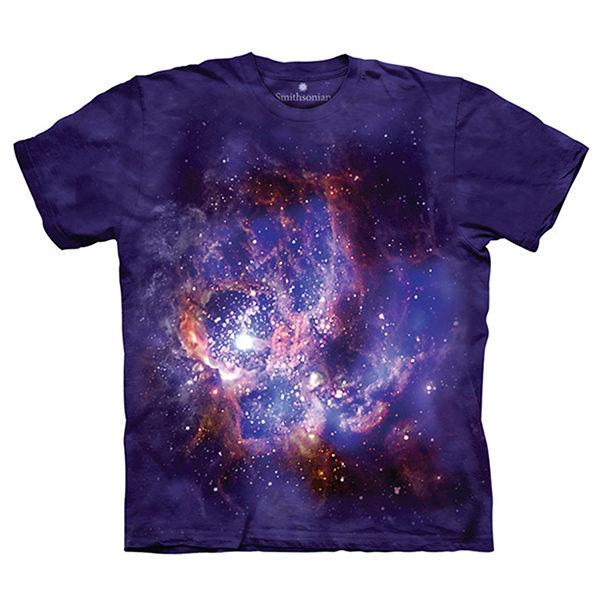 【摩達客】(預購)(大尺碼3XL)美國進口The Mountain Smithsonian系列 NGC604星雲 純棉環保短袖T恤