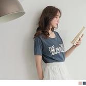 《AB12586-》台灣製造.高含棉貓頭鷹可愛圖印T恤/上衣 OB嚴選