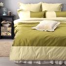 《 60支紗》雙人床包兩用被套枕套四件組【波隆那 - 綠色】-LITA麗塔寢飾-