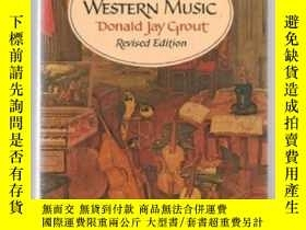 二手書博民逛書店A罕見History Of Western MusicY364682 Donald Jay Grout W.