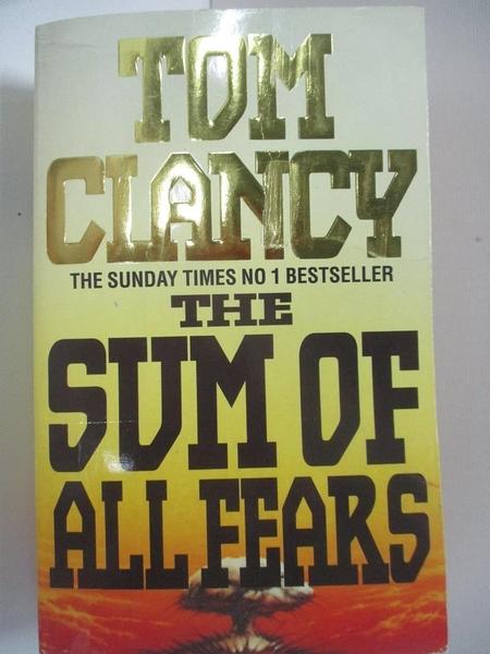 【書寶二手書T1/原文小說_AUD】The Sum of All Fears_Tom Clancy