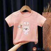 女童短袖t恤寶寶純棉兒童半袖韓版上衣韓版【淘夢屋】