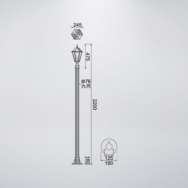 古銅色戶外庭園燈 單燈防水型 可客製化 可搭配LED
