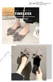 穆勒鞋拖鞋女春款尖頭蝴蝶結包頭穆勒鞋韓版時尚百搭平底外穿仙女鞋 歐歐