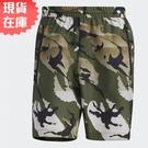 【現貨】Adidas WOVEN CAMO 男裝 短褲 休閒 梭織 再生材質 口袋 迷彩綠【運動世界】GP0835