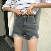 破洞牛仔短褲毛邊闊腿熱褲