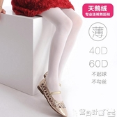 絲襪 兒童白色舞蹈絲襪薄款夏季公主打底天鵝絨防勾絲2-12歲女童連褲襪 寶貝計畫