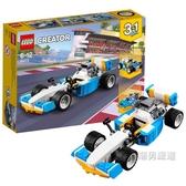 積木創意百變系列31072雷霆賽車Creator積木玩具xw